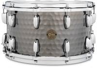 gretsch s1 0814 bsh hammered black steel 8x14 inch snare drum