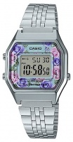 casio ladies retro series digital wrist watch silver running walking equipment