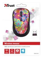 trust yvi wireless mouse flower power