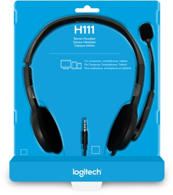 Photo of Logitech H111 Stereo Headset With Noise-cancelling Mic