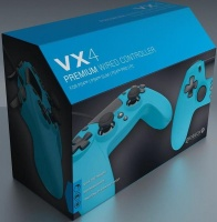 gioteck vx4 premium wired controller blue ps4
