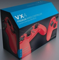 gioteck vx4 premium wired controller red ps4