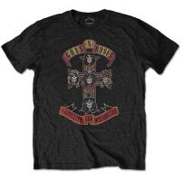guns n roses appetite for destruction boys t shirt black 9 movie game merchandise
