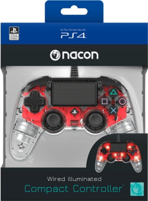 Photo of NACON - Wired Illuminated Compact Controller - Clear Red