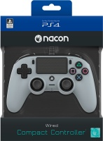 nacon wired compact controller grey ps4