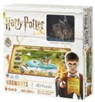 harry potter mini hogwarts 4d puzzle 543 pieces movie game merchandise