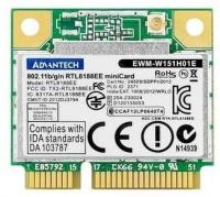 advantech 80211bgn rtl8188ee 1t1r 1 c 24ghz wifi mini pcie