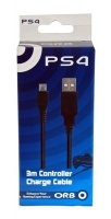 orb ps4 3m usb to mini charging cable