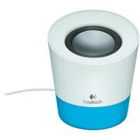 logitech z50 speaker white blue