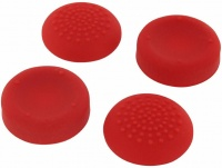 assecure silicone thumb grips concave and convex red ps4