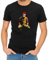 Ronald Mcdonald Joker Mens T Shirt Black