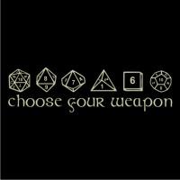 Choose Your Weapon Mens T Shirt Black