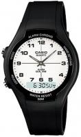 casio retro aw 90h analog and digital watch black running walking equipment