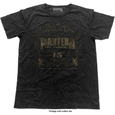 Photo of Pantera 101% Proof Vintage Mens Black T-Shirt