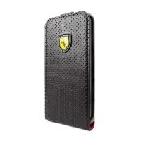 ferrari challenge leather flip case iphone 55s black and