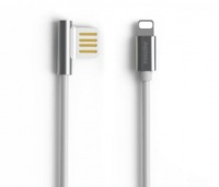 remax 1m am rev lightning usb cable silver