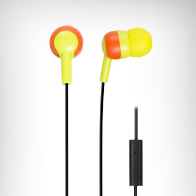 Photo of Wicked Audio Wicked Bandit In-Ear Headphones wuth Mic - Yellow and Orange