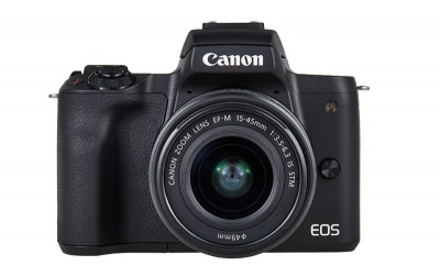 Photo of Canon EOS M50 Black with M15-45S & M55-200 Lenses Digital Camera