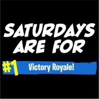 Saturdays Are For Victory Royale Men's Black T Shirt