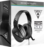 turtle beach recon 200 wired gaming headset black ps4xbox