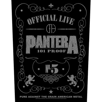 Photo of Pantera 101% Proof Back Patch