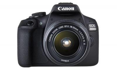 Photo of Canon 2000D DSLR EF-S 18-55mm f/3.5-5.6 IS 2 & EF 75-300mm f/4-5.6 3 Lens Digital Camera