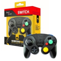 steelplay gcube wireless controller black nintendo switch