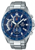 casio edifice series analogue wrist watch silver and blue running walking equipment