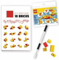 lego duck notebook and pen