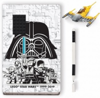 lego star wars naboo starfighter notebook and pen