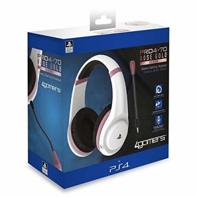 Photo of 4Gamers - ABP PRO4-70 Rose Gold Headset - White