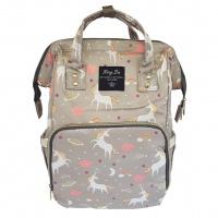 Backpack Nappy Bag Unicorn Grey