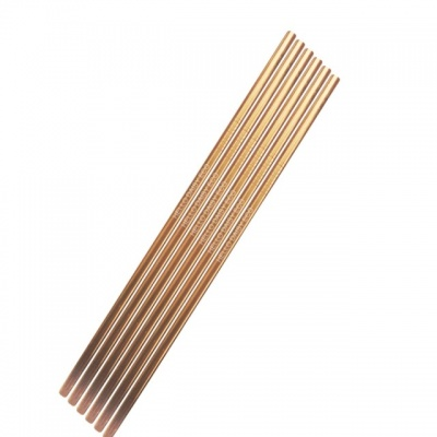 Hello Daisy Stainless Steel Straw Set Rose Gold Straight Set of 6