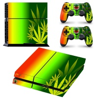 skin nit decal for ps4 rasta weed