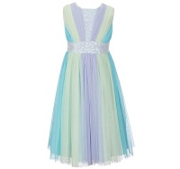 bonnie jean ombre aqua fit and flare dress 6 years