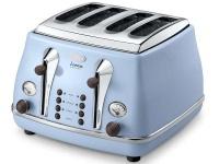 delonghi icona vintage dolcevita azure toaster ctov4003az toaster