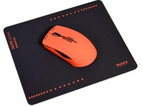 Port Designs Wired Mouse Mouse Pad Red