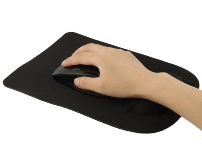 Photo of Tuff Luv Tuff-Luv Ultra-Thin Cloth Mouse Pad Gel Support - Black
