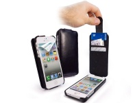 tuff luv leather case for apple iphone 5 5s se black i243