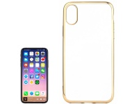 tuff luv soft plastic for iphone x gold j1522
