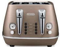 delonghi distinta 4 slice toaster bronze cti4003bz toaster