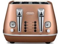 delonghi distinta 4 slice toaster copper cti4003cp toaster