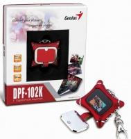 genius dpf 102k 1 digital photo keychain clock media player