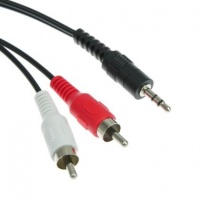 2 rca male to 35mm stereo 3 meter audio cable