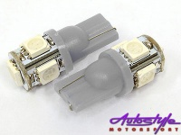 t10 5led wedge parklight bulbs white lighting