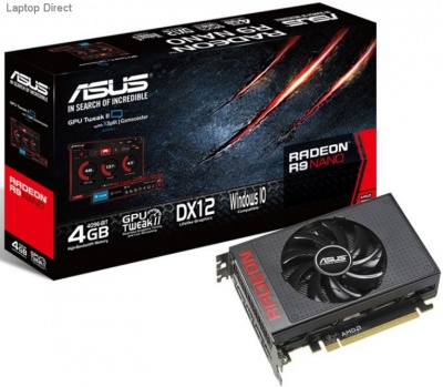 Photo of Asus R9NANo-4G 4Gb 4096bit HBM Graphics Card with XDMA CrossFire Support