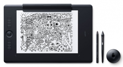 Photo of Wacom Intuos Pro L Large Tablet Black Multitouch with Pro Pen 2 Stylus