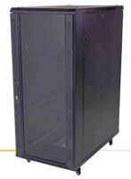 unbranded 22u 600 x 600mm standing cabinet mesh front solid