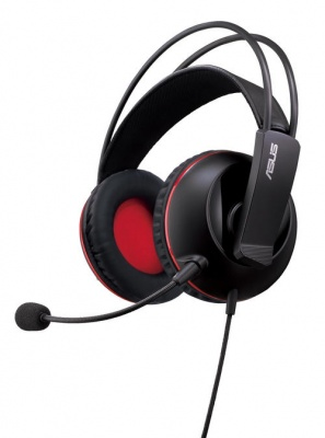 Photo of Asus Cerberus gaming headset for PC/Mac/PlayStation/mobile device - black red republic of gamers design - dual position