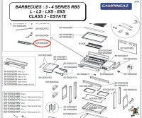 campingaz 28mb burner for 3 4 series barbecue helmet spare